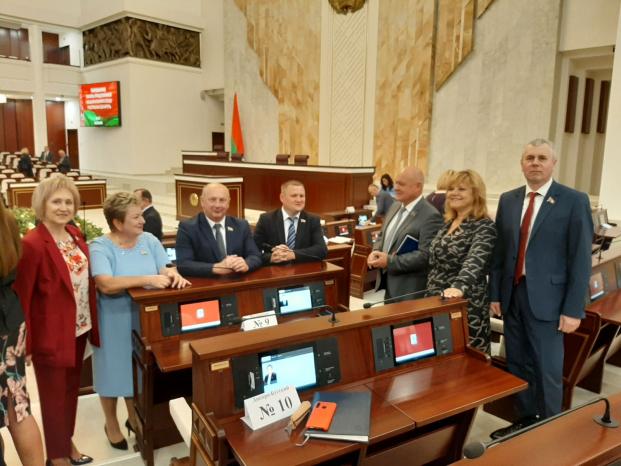 Участие в первом заседании третьей внеочередной сессии Палаты представителей Национального собрания Республики Беларусь 3 августа 2020 года