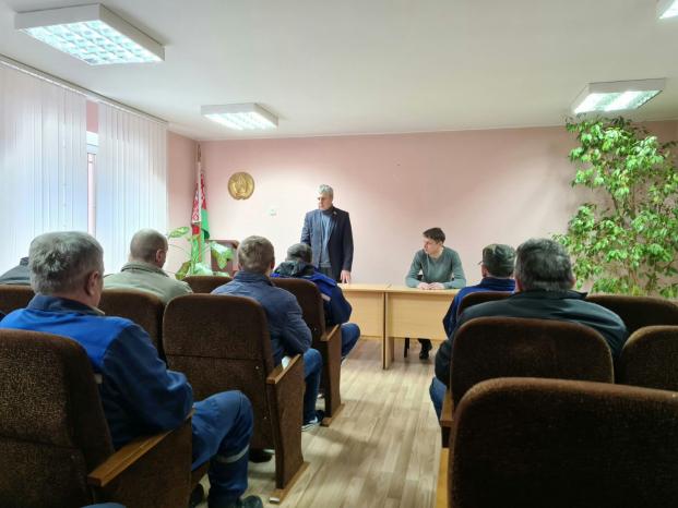 Встреча с коллективом ЖЭС-3 ЖРЭУ города Барановичи 20 апреля 2021 года.
